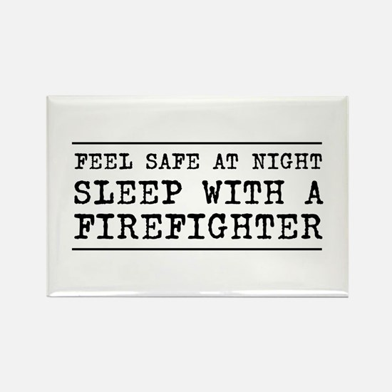 Sleep with a firefighter Magnets