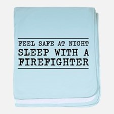 Sleep with a firefighter baby blanket