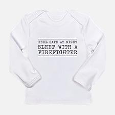 Sleep with a firefighter Long Sleeve T-Shirt