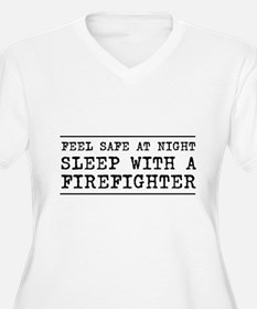 Sleep with a firefighter Plus Size T-Shirt