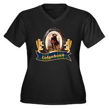 Colquhoun Cl Women's Plus Size V-Neck Dark T-Shirt