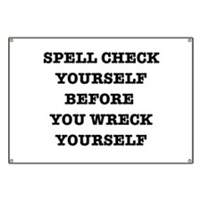 Spell check yourself Banner