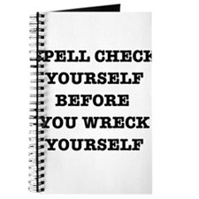 Spell check yourself Journal