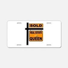 REAL ESTATE QUEEN Aluminum License Plate
