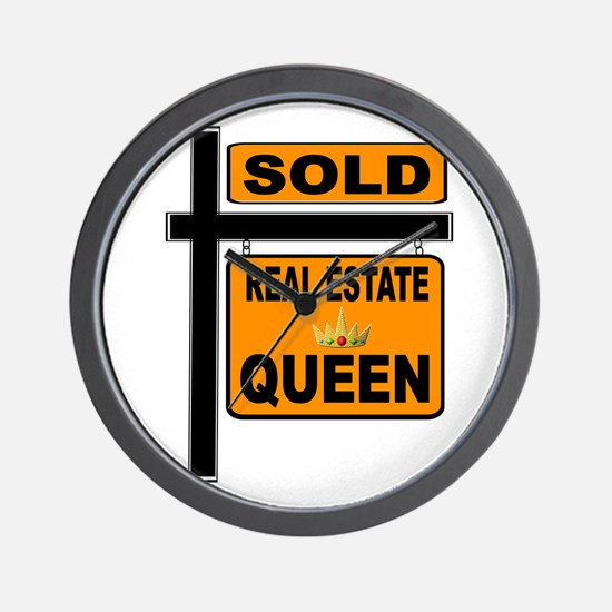 REAL ESTATE QUEEN Wall Clock
