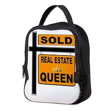 REAL ESTATE QUEEN Neoprene Lunch Bag