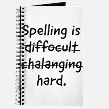 Spelling is hard Journal