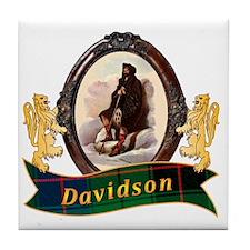 Davidson Clan Tile Coaster