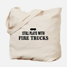 Still plays with fire trucks Tote Bag