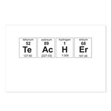 Teacher periodic elements Postcards (Package of 8)