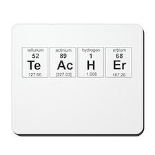 Teacher periodic elements Mousepad