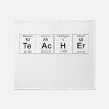 Teacher periodic elements Throw Blanket