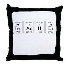 Teacher periodic elements Throw Pillow