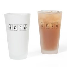 Teacher periodic elements Drinking Glass