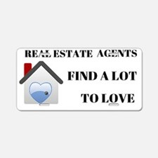 Real Estate Agents  Aluminum License Plate