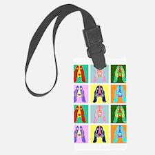 Basset Hound Pop Art Luggage Tag