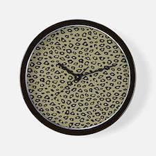 Gold Black Leopard Print Wall Clock