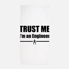 Trust me i'm an engineer Beach Towel