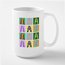 Basset Hound Pop Art Large Mug