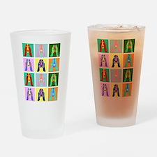 Basset Hound Pop Art Drinking Glass