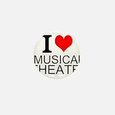 I Love Musical Theatre Mini Button (10 pack)