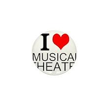 I Love Musical Theatre Mini Button