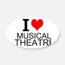 I Love Musical Theatre Oval Car Magnet