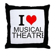 I Love Musical Theatre Throw Pillow