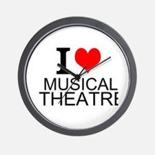 I Love Musical Theatre Wall Clock