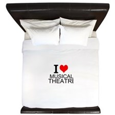 I Love Musical Theatre King Duvet