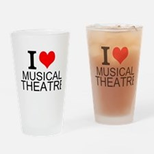 I Love Musical Theatre Drinking Glass