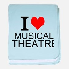 I Love Musical Theatre baby blanket