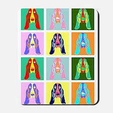 Basset Hound Pop Art Mousepad