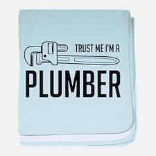 Trust me i'm a plumber baby blanket