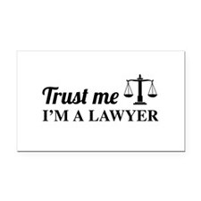 Trust me I'm a lawyer Rectangle Car Magnet