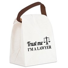 Trust me I'm a lawyer Canvas Lunch Bag
