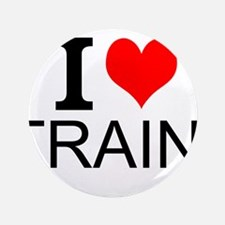 """I Love Trains 3.5"""" Button (100 pack)"""