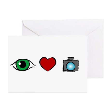WTD: I Love Photography Greeting Cards (Package of
