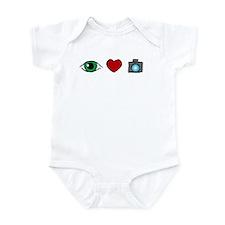 WTD: I Love Photography Infant Bodysuit