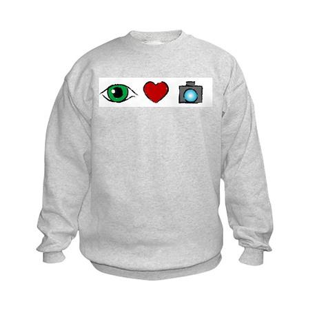 WTD: I Love Photography Kids Sweatshirt