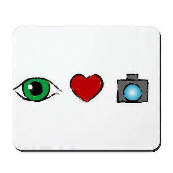WTD: I Love Photography Mousepad