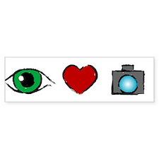 WTD: I Love Photography Bumper Bumper Sticker