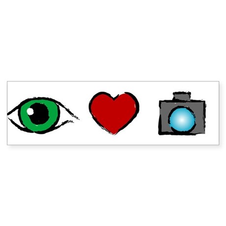 WTD: I Love Photography Bumper Sticker