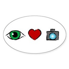 WTD: I Love Photography Oval Decal