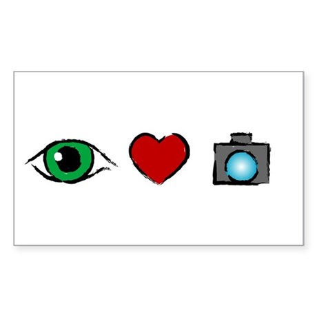 WTD: I Love Photography Rectangle Sticker