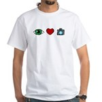 WTD: I Love Photography White T-Shirt