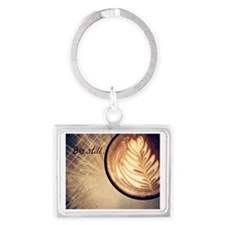 Be Still latte art Landscape Keychain