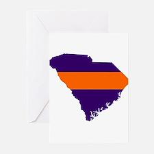 South Carolina Map Greeting Cards (Pk of 10)