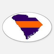 South Carolina Map Oval Decal