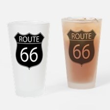 Route 66 Road Sign Drinking Glass